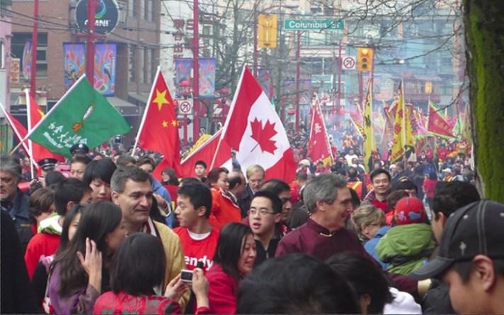 Parade warga China di Vancouver